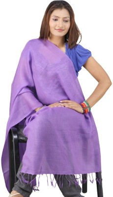 Indiangiftemporium Printed Wool, Viscose, 35% Kashmiri Wool, 65% Wool ruffle yarn Women's Stole