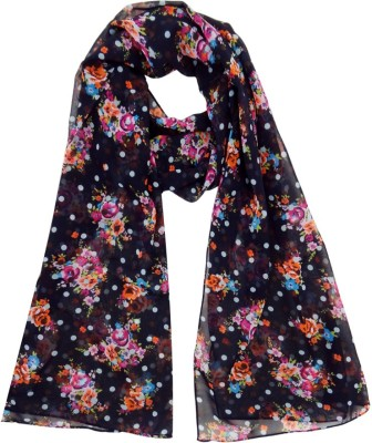 Hi Look Floral Print Polyester Women's Scarf
