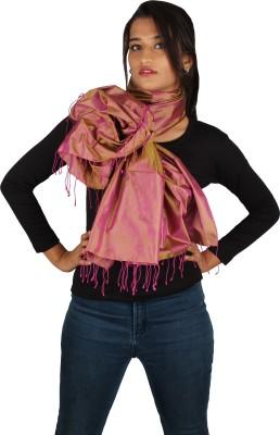 True Fashion Solid 100% Silk Women's Scarf
