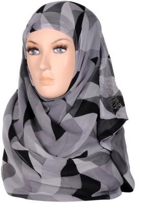 Scarves & Glitters Geometric Print Silk Georgette Women's Scarf
