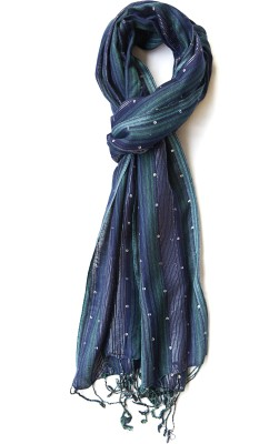 Niv Collection Striped VISCOSE/LUREX Women's Scarf