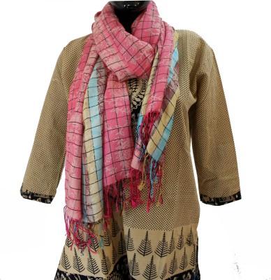 Baba Handicrafts Checkered Cotton-Silk Women's Stole