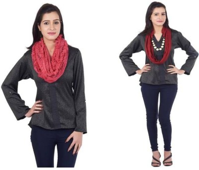 Get Wrapped Embellished Viscose, Cotton Women's Scarf