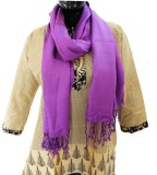 Baba Handicrafts Solid Pashmina Women's ...