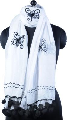 Pert Fashion Self Design Cotton Women's Scarf