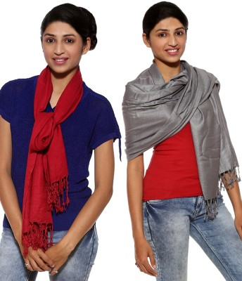 Covetindia Solid Viscose Women's Stole
