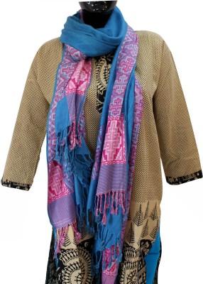 Baba Handicrafts Applique Cotton-Pashamina Women's Stole