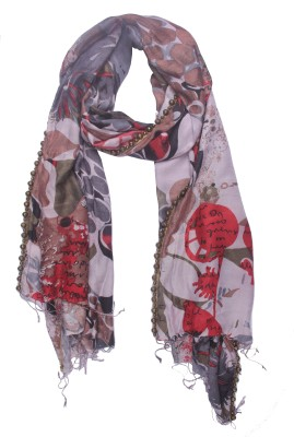 Semantika Printed Silk Blend Women's Stole