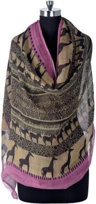 Tiara Animal Print Linen/Viscose Women's Stole