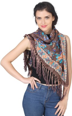 True Fashion Floral Print Silk Women's Scarf