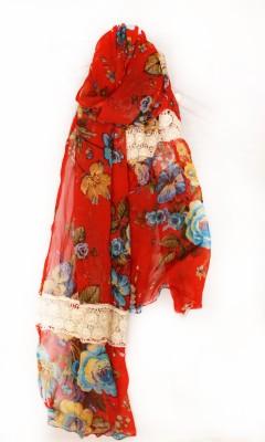MAGA Floral Print Chiffon Women,s, Girl's Stole