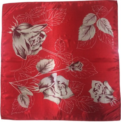 Rangbharey Printed, Floral Print POLYESTER SATIN Girl,s, Women's Scarf