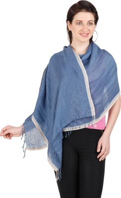 Shyam & Co. Of North Pvt. Ltd. Solid 100% Linen Women's Scarf