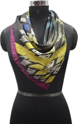 PromotionalClub Printed 100% Silk Women,s Scarf