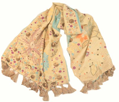 Amet And Ladoue Embroidered Linen Women's Stole