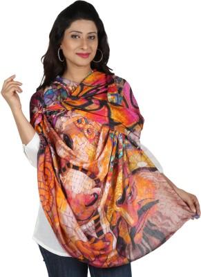 Etoles Floral Print Cotton Chanderi Women's Scarf