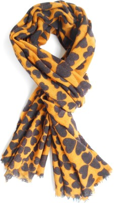 Wool Scarf Printed 100% Pure Wool Women's Scarf