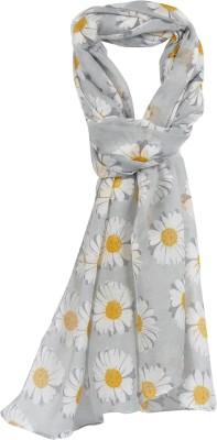 Crunchy Fashion Floral Print Polyster Women,s Scarf