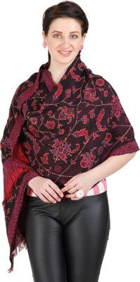 Shyam & Co. Of North Pvt. Ltd. Floral Print 75% Cotton 25% Wool Women's Scarf