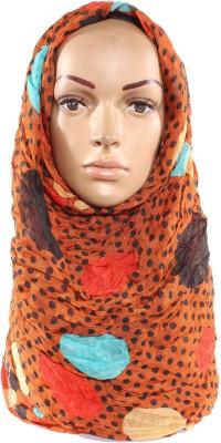 Muslimkart Polka Print Cotton, Polyster Women's Scarf