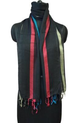 NEHANCHAL Striped Viscose, Silk Women's Scarf