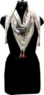 Selfiwear Floral Print 100% Pure Silk Women's Scarf