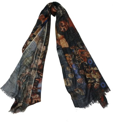 Shawls of India Graphic Print Viscose Women's Scarf