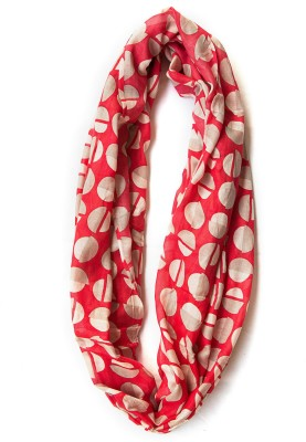 Niv Collection Polka Print VISCOSE Girl's Scarf