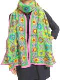 GiftPiper Embroidered Cotton Silk Women'...