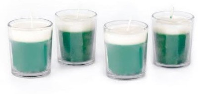 Resonance Christmas In Green Apple Aroma Scented Natural Wax Candle - Set Of 4