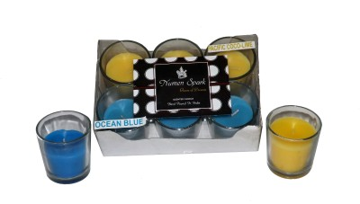 Numen Spark Ocean Blue - Sandalwood Dual Scent Votive Candle (pack of 6)