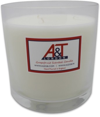A&T London Grapefruit Luxury Scented Candle With Three Wicks