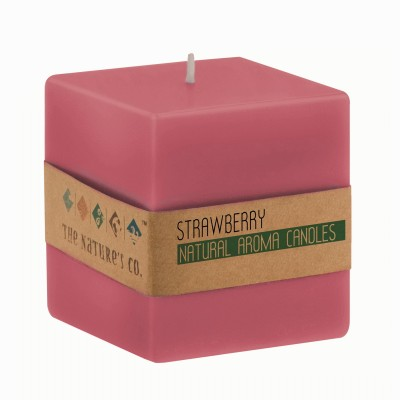 The Natures Co Strawberry Candle