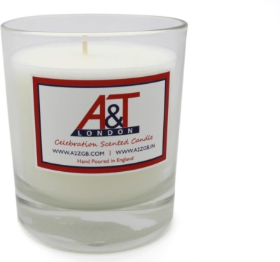 A&T London Celebration Scented Candle With One Wick. Hand Poured In England