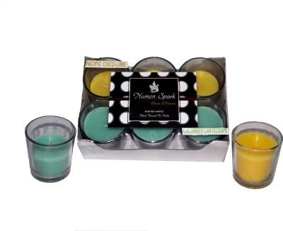 Numen Spark Pacific Cocolime-Cucumber Cantaloupe Dual-Scent Votive Candle
