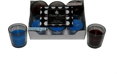 Numen Spark Ocean Blue - Chocoholic Dual Scent Votive Candle (pack of 6)