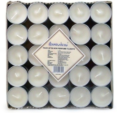 Illuminations Pack of 50 unscented T-light candle