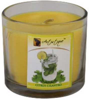Artistique 4 Oz Clear Cup Citrus Cillantro Fragrance Candle