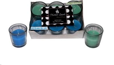Numen Spark Ocean Blue - Cucumber Cantaloupe Dual Scent Votive Candle (pack of 6)