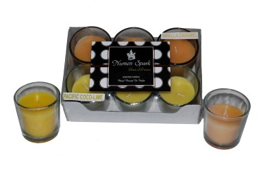 Numen Spark Antique Sandalwood - Vanilla Caramel Dual Scent Votive Candle (pack of 6)