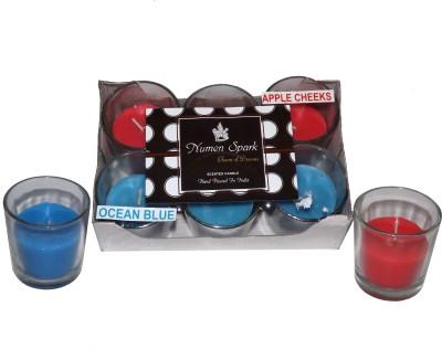 Numen Spark Apple Cheeks-Ocean Blue Dual-Scent Votive Candle
