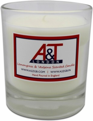 A&T London Lemongrass And Verbena Scented Candle. Hand poured in England.