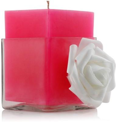 Resonance Pink & White Pillar Candle