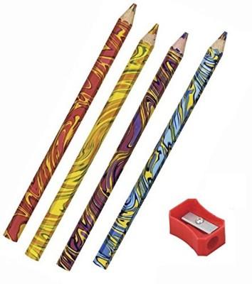 Pigloo Rainbow Swirl Multicolor Lead Pencils School Set