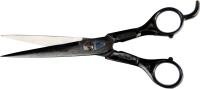 Madan Hair Cutting Right Handed Hairdressing Scissors(Set of 1, Black)