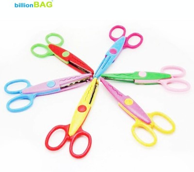 billionBAG High Quality ZigZag Multi Hand Useable Art & Crafts Scissors