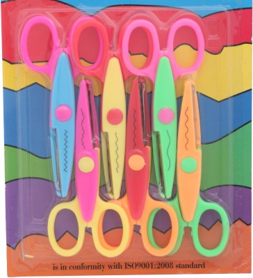 Priya Exports Craft Ambidextrous Paper Scissors(Set of 6, Multicolor)