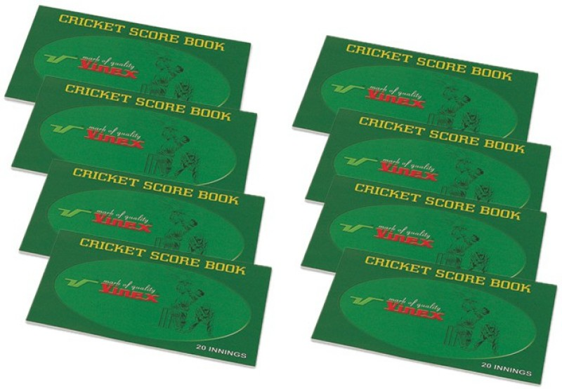 Vinex Cricket Scorebook(Scores 20 Matches)
