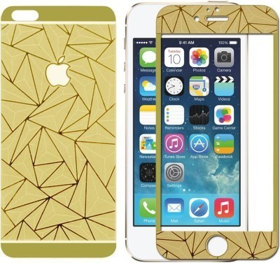 SYL Golden 3d Tempered Glass Screen Guard For Apple Diamond Screen Guard for Apple Iphone 4