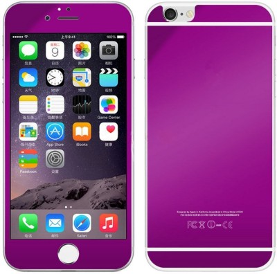 Aart Store iphobne6plus-purple-glass Front & Back Protector for I Phone Plus